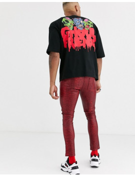 Asos Design Halloween Oversized T Shirt With Ghoul Face Back Print by Asos Design