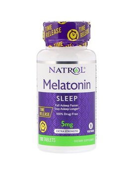 Natrol, Melatonin, Time Release, Extra Strength, 5 Mg, 100 Tablets by Natrol
