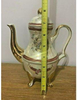 Vintage Iridescent Lusterware 15 Pc Tea Set Demitasse Gold Trim Courting Couple by Ebay Seller