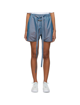 Blue Iridescent Military Physical Training Short by Fear Of God
