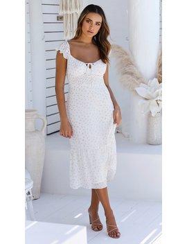 Blossom Midi Dress   White Floral by Billy J.