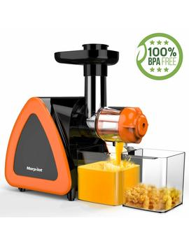 [2019 Newest] Juicer Machine, Morpilot Slow Masticating Juicer, Reverse Function, Cold Press Juicer Machine, Easy To Clean With Brush For High Nutrient Fruit & Vegetable Juice, Quiet Motor Juicer by Morpilot