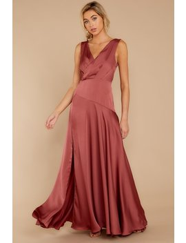 Sweeping Entrance Rosewood Maxi Dress by Do+Be