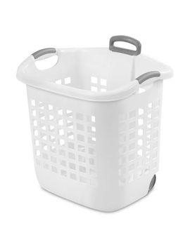 Sterilite White Wheeled Hamper by Walmart