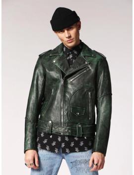 Diesel L Grime Leather Jacket by Diesel  ×