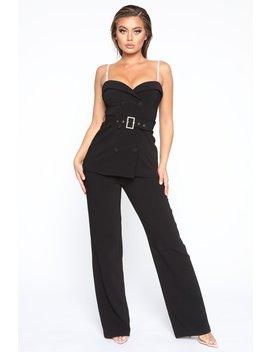 In My Business Pant Set   Black by Fashion Nova
