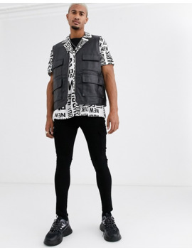 Asos Design Relaxed Fit Shirt In City Text Print by Asos Design