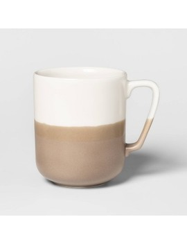15.2oz Porcelain Ollers Mug White/Brown   Project 62™ by Shop This Collection