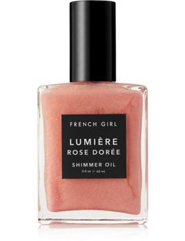 Huile Pailletée Lumière Rose Dorée, 60 Ml by French Girl Organics