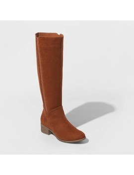 Women's Brielle Microsuede Riding Boots   Universal Thread™ by Universal Thread