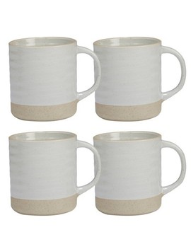 Certified International Artisan Ceramic Mugs 22oz White/Brown   Set Of 4 by Shop This Collection