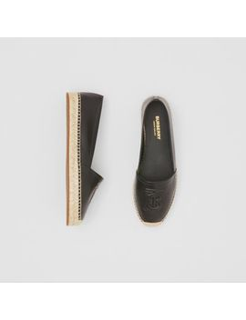 Monogram Motif Leather Espadrilles by Burberry