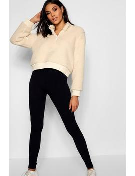 Cable Knit Leggings by Boohoo