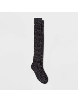 Women's Cable Super Soft Over The Knee With Cuff Boot Socks   Universal Thread™ One Size by Universal Thread