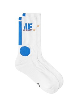Ader Error Circle Jacquard Sock by Ader Error
