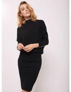 Black Button Jumper Dress by Mint Velvet