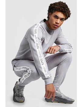 Sweater Tracksuit With Man Ltd Edition Tape by Boohoo