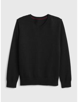 kids-uniform-v-neck-sweater by gap