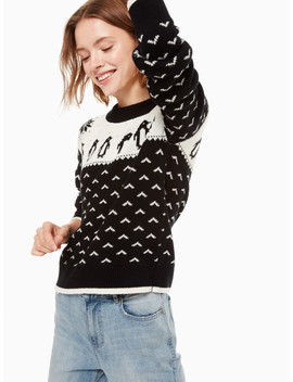 Penguin Intarsia Sweater by Kate Spade