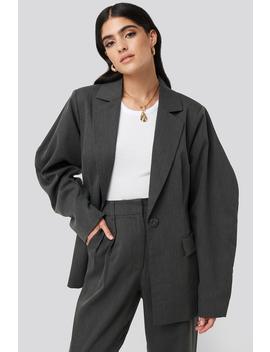 Rounded Shoulder Blazer Grey by Nakdclassic