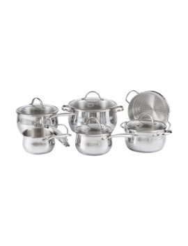 Bellissima 11 Piece Stainless Steel Cookware Set   Induction Ready by Lagostina