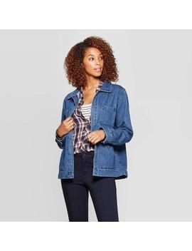 Women's Denim Chore Jacket   Universal Thread™ Medium Wash by Universal Thread