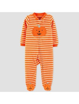 Baby Stripe Pumpkin Halloween 1pc Pajama   Just One You® Made By Carter's Orange by Just One You Made By Carter's