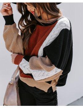 Leslie Colorblock Knit Dolman Sweater by Vici