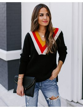 To The Fullest V Neck Sweater by Vici