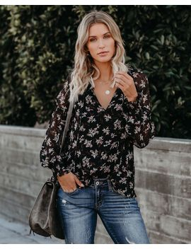 Loving Every Minute Floral Smocked Blouse by Vici