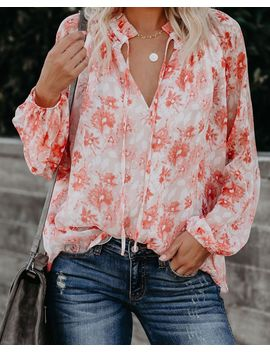 Lotus Floral Blouse by Vici
