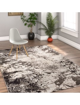 "Well Woven Luxbury Supurasshu Modern Gray Area Rug 5'3""X7'3"" by Well Woven"