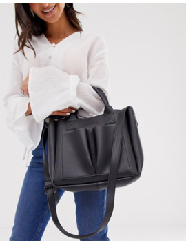 Claudia Canova Twin Pocket Grab Bag In Black by Asos