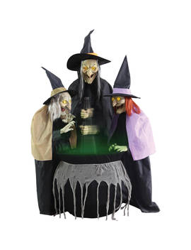 Stitch Witch Sisters Animated Halloween Decoration by Morris Costumes