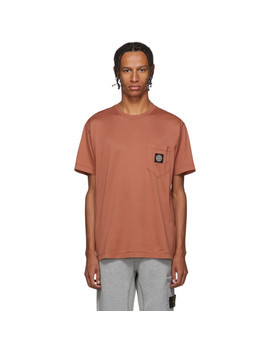 Pink Pocket T Shirt by Stone Island