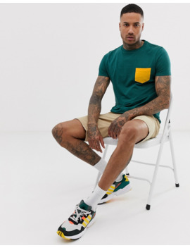 Asos Design T Shirt With Pocket In Green by Asos Design