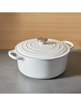 Le Creuset ® Signature 7.25 Qt. Round White Dutch Oven With Lid by Crate&Barrel