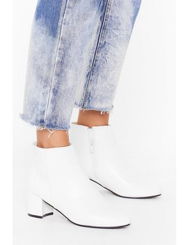Croc To My System Faux Leather Ankle Boots by Nasty Gal