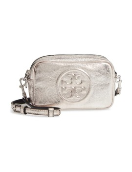 Mini Perry Bombe Metallic Faux Leather Crossbody Bag by Tory Burch