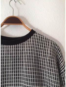 Cropped Sewn Pattern Sweater by Unbranded  ×