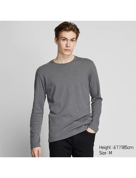 Men Soft Touch Crew Neck Long Sleeved T Shirt (9) by Uniqlo