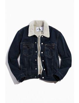 Calvin Klein Iconic Omega Sherpa Denim Jacket by Calvin Klein