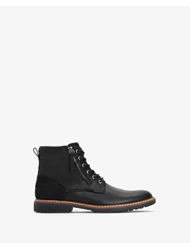 Leather Zip Boots by Express