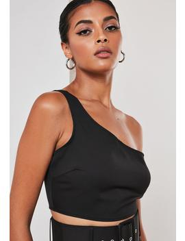Black Co Ord One Shoulder Crop Top by Missguided