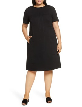 Jacintha Tonal Stitch Shift Dress by Lafayette 148 New York