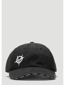 X Reebok Anarchy Cap In Black by Vetements