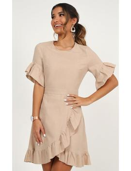 Unproductive Days Dress In Blush Linen Look by Showpo Fashion