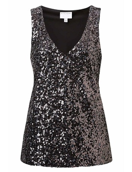 Sequin V Neck Tank by Witchery