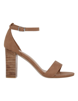 Madison Tan Sandal by Miss Shop