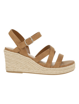 Emma Tan Sandal by Miss Shop